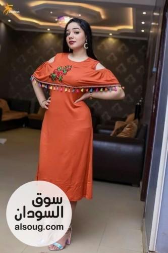 فستان ميدي رهيب خامة قطن تقيل - صورة رقم