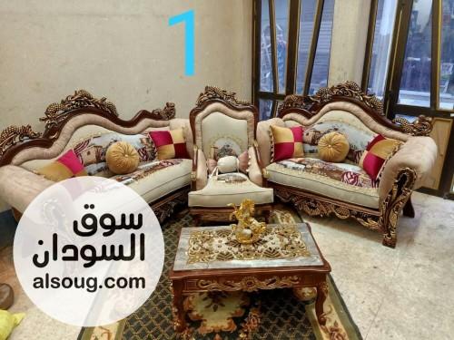 اطقم جلوس زان دمياطي روعه 5 قطع - صورة رقم