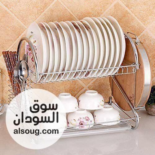 منظم صحون وادوات المطبخ من الاستانلس استيل  - صورة رقم