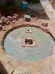 حفر آبار السايفون الالي وشبكه لتوصيل السباكه