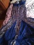 فستان سهرة وفستان جرتق بلبس لحدي مقاس57