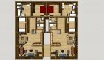 هيكل خرصانى لطابق ارضى واول لعمارة مربع 7 الحلفايا