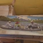 قارب مطاط ٣ متر +مكنه ثلاثه ونص حصان