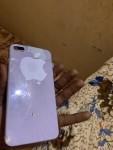 iPhone 8 Plus 64giga. فيهو كسره في الباك الخلفي