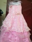 فستان زفاف لاطفالpink جديد راق
