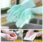اسم المنتج : قفازات السيليكون السحرية قفازات للتنظيف الاواني والمطبخ م