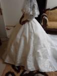 فستان زفاف للبيع جديد روعه