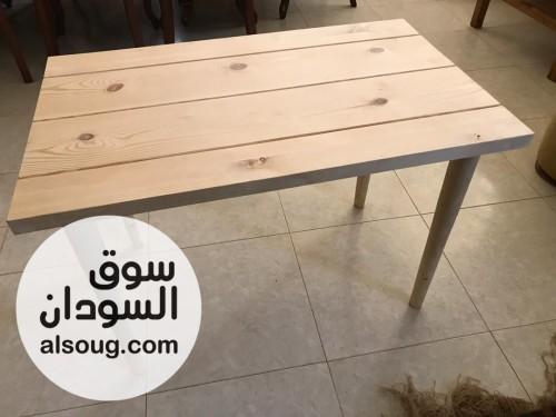 طقم طرابيز ومقاعدخشب لكافيهات او مطاعم - صورة رقم 1
