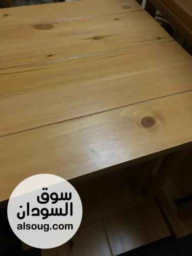 طقم طرابيز ومقاعدخشب لكافيهات او مطاعم - صورة رقم 2
