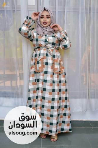 فستان كاروهات -متوفر لونين -فققط - صورة رقم