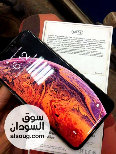IPhone xs max  Gold with box - صورة رقم