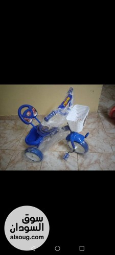 عجلات اطفال ثلاثيه ركشه مع سناد - صورة رقم
