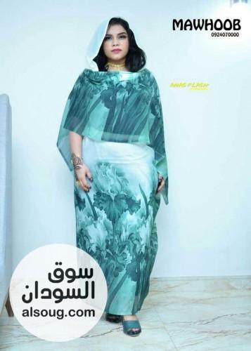 ثياب حرير  مشجر  ربط   عريض - صورة رقم