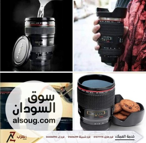 كوب قهوة وشاي على شكل عدسة الكاميرا كانون - صورة رقم