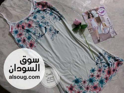 قمصان نوم الخامة قطن بلبس لوزن 80 ك - صورة رقم