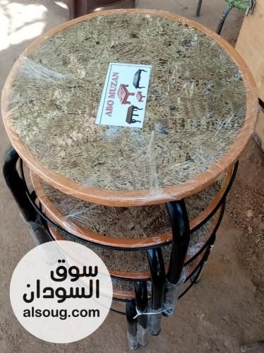 ️ طقم طرابيز يحتوي على اربع قطع بسعر  ج الأشكال المتوفره -*ال - صورة رقم