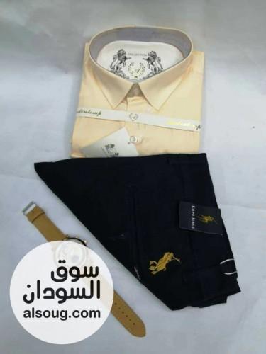 بنطلون بولو وقميص تركي كم طويل مقاسات مختلفه - صورة رقم